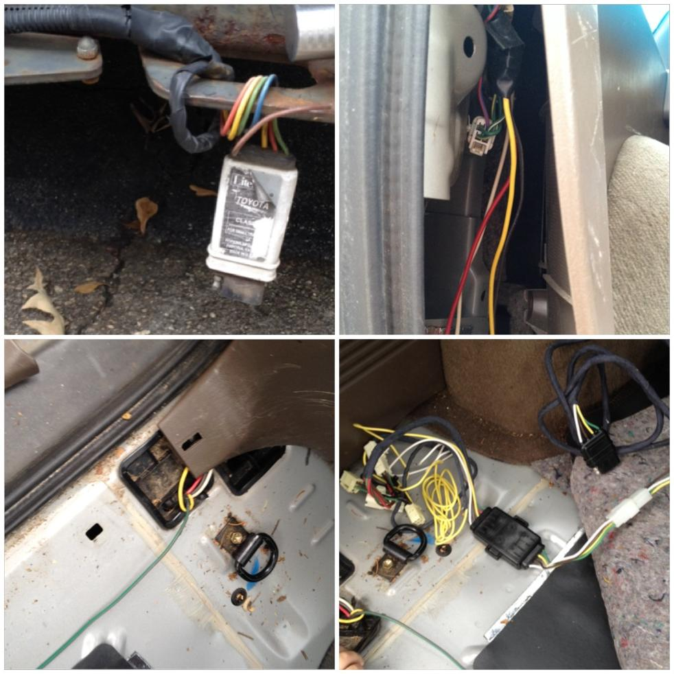 toyota 4runner trailer wiring adaptor replacing 4 pin trailer wiring with pics toyota 4runner forum  replacing 4 pin trailer wiring with