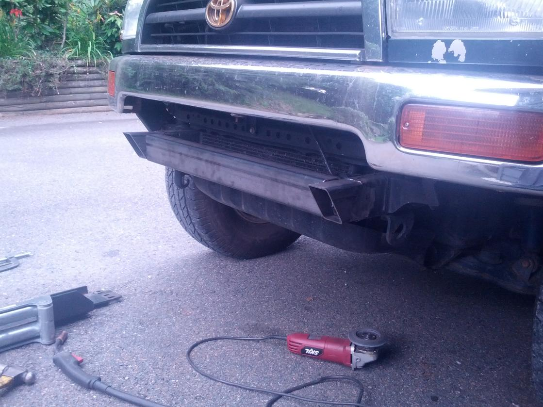 Cheapest way to mount a front-mount winch? - Toyota 4Runner