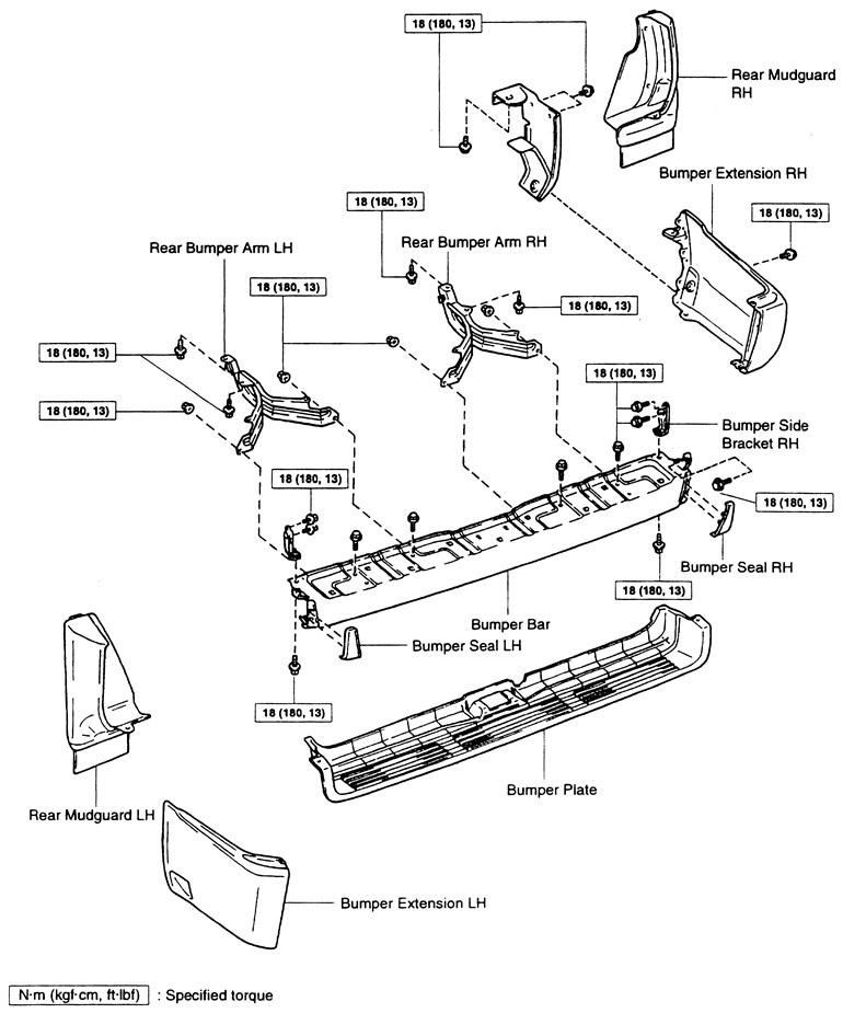 rear bumper upper plate