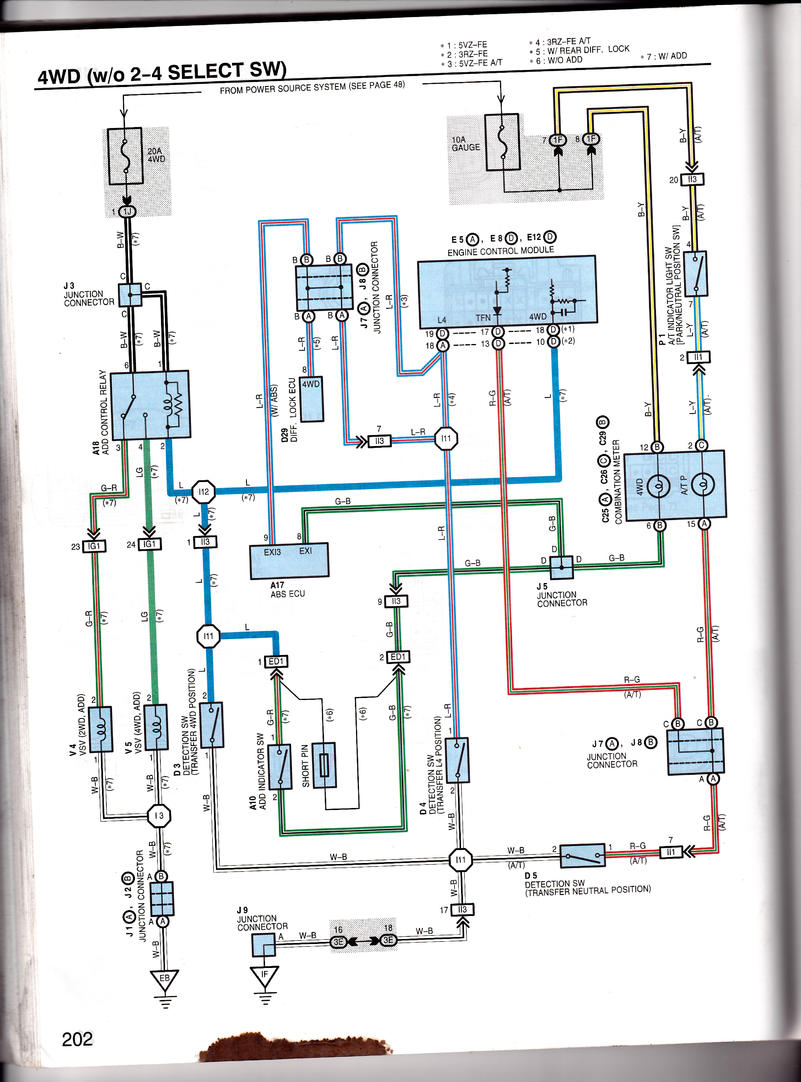 1995 Toyota 4runner Transmission Wiring - wiring diagram on ... on