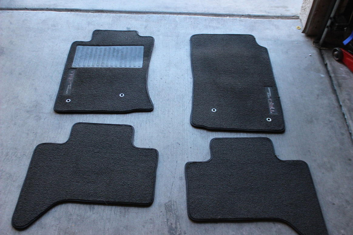 trd tacoma mats fit just fine page 2 toyota 4runner. Black Bedroom Furniture Sets. Home Design Ideas