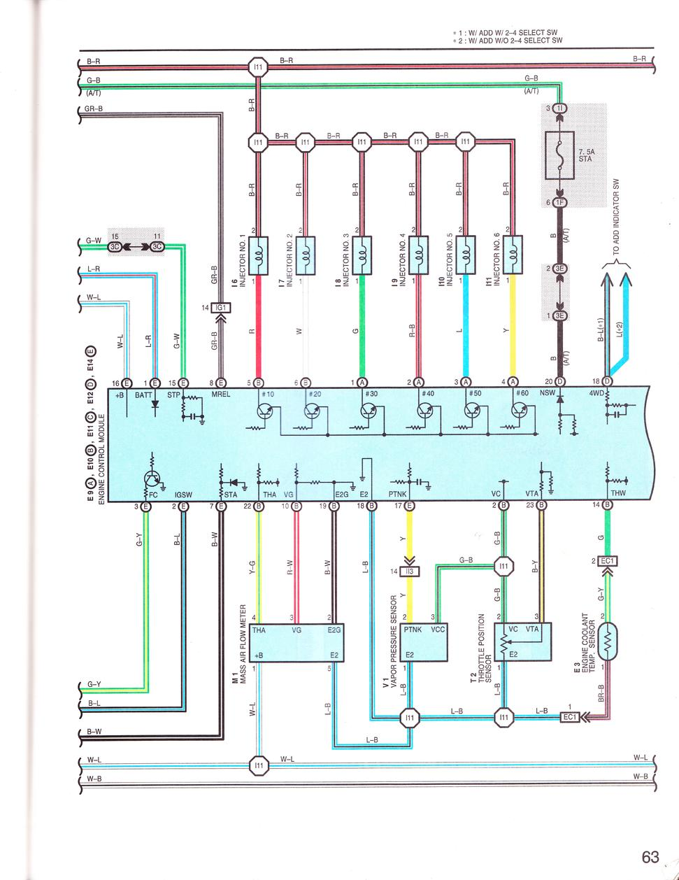 Picture Of A 1999 Mafsensor Wire Harness Please - Toyota 4runner Forum