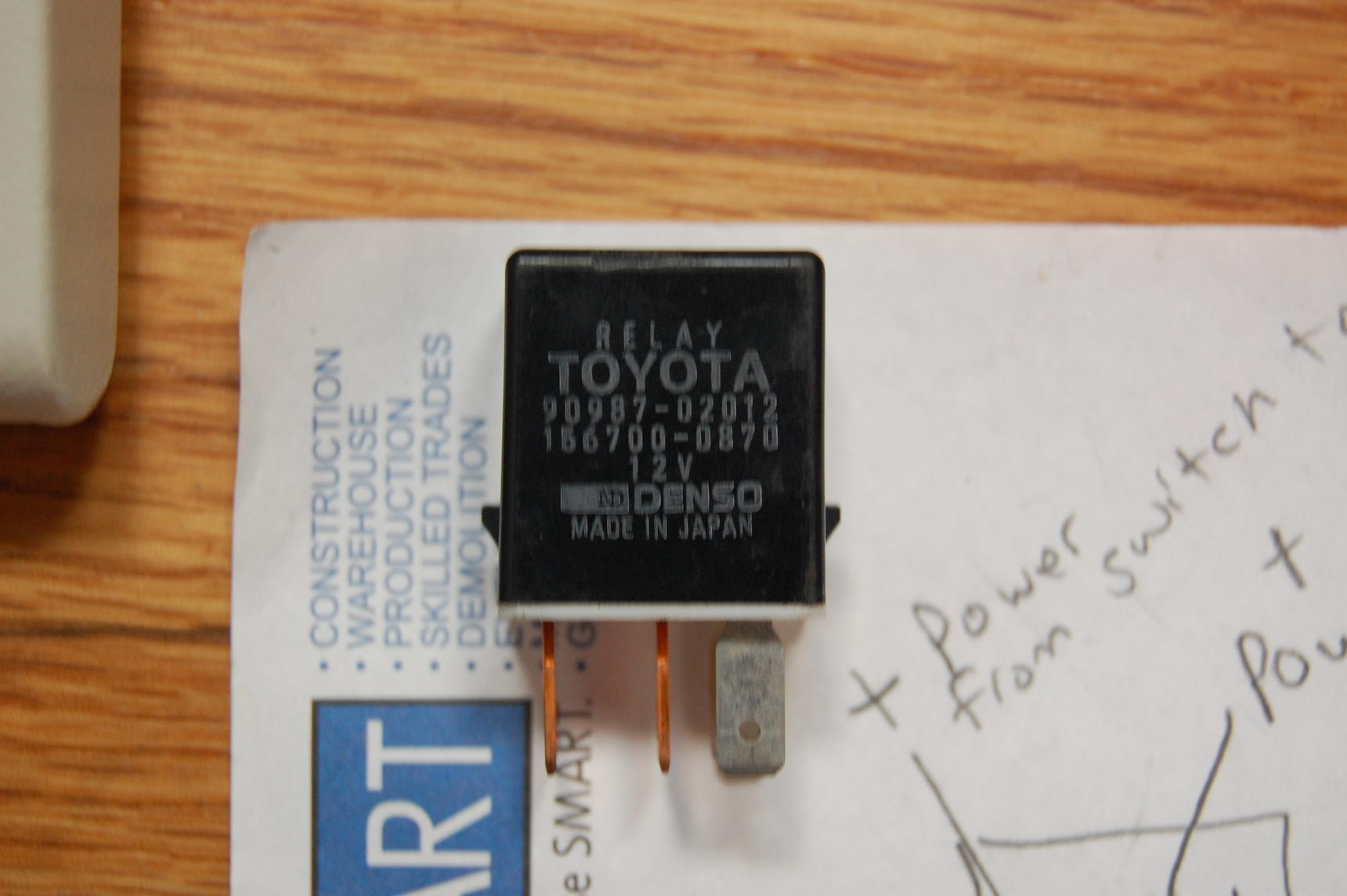 Oem Denso Relay For Acc  Wiring