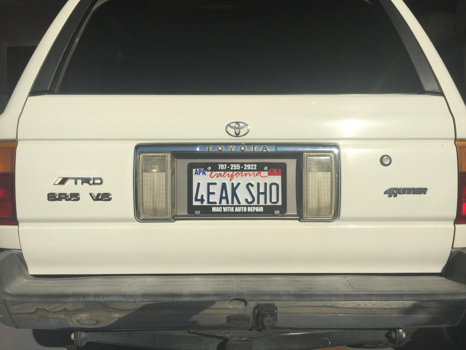 How Do You Like My Personalized Plates Toyota 4runner
