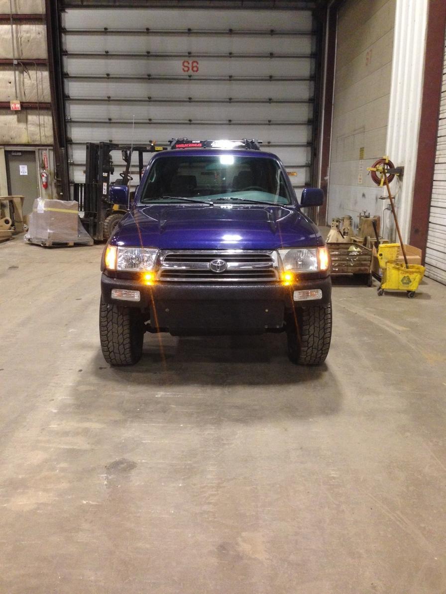LED amber daytime running lights installed - Toyota 4Runner