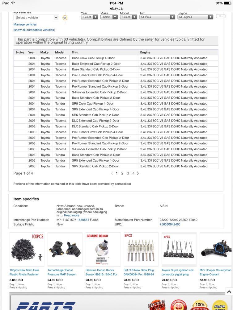 Fake ebay injectors?!?? - Toyota 4Runner Forum - Largest