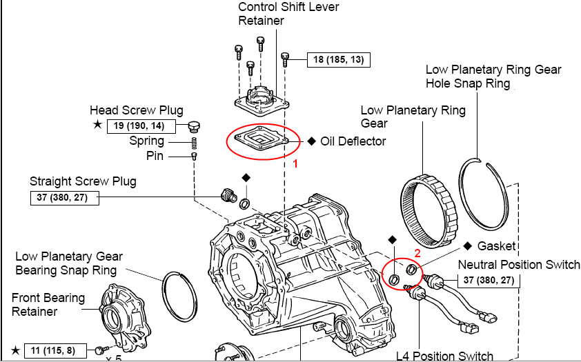 leak between transmission and transfer case