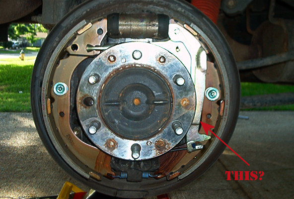96 Toyota 4runner Rear Drum Brake Spring Diagram