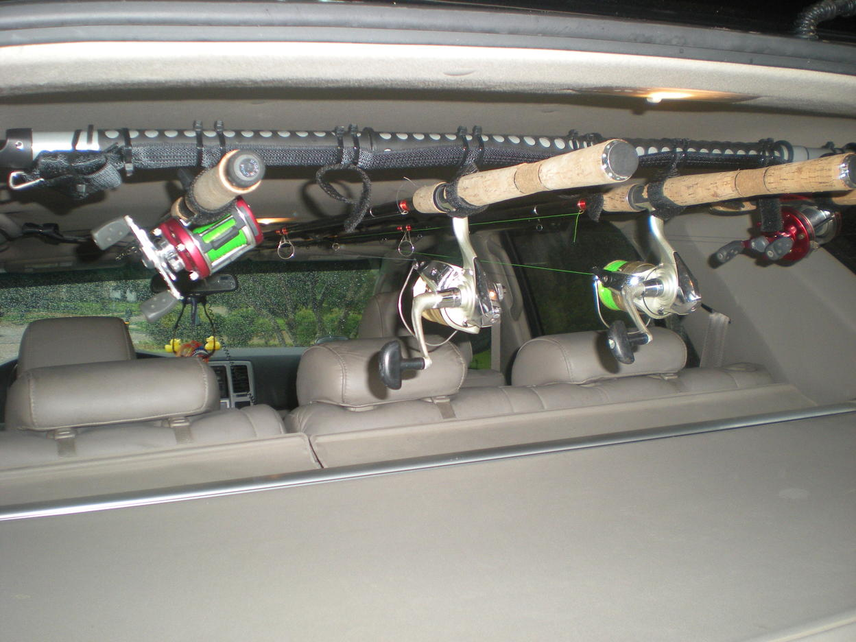 Rod holders for suv for Suv fishing rod holder