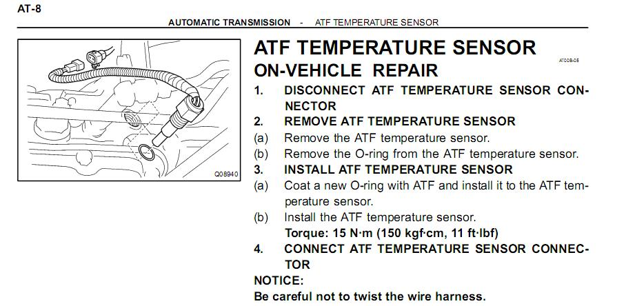 atf temp sensor not found toyota 4runner forum largest 4runner attached transmission temp sensor