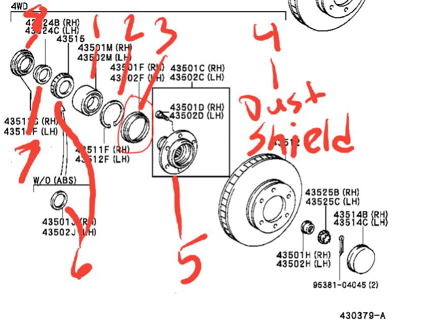 Front wheel bearing, hub and spindle upright rehab-20190813_155203-jpg