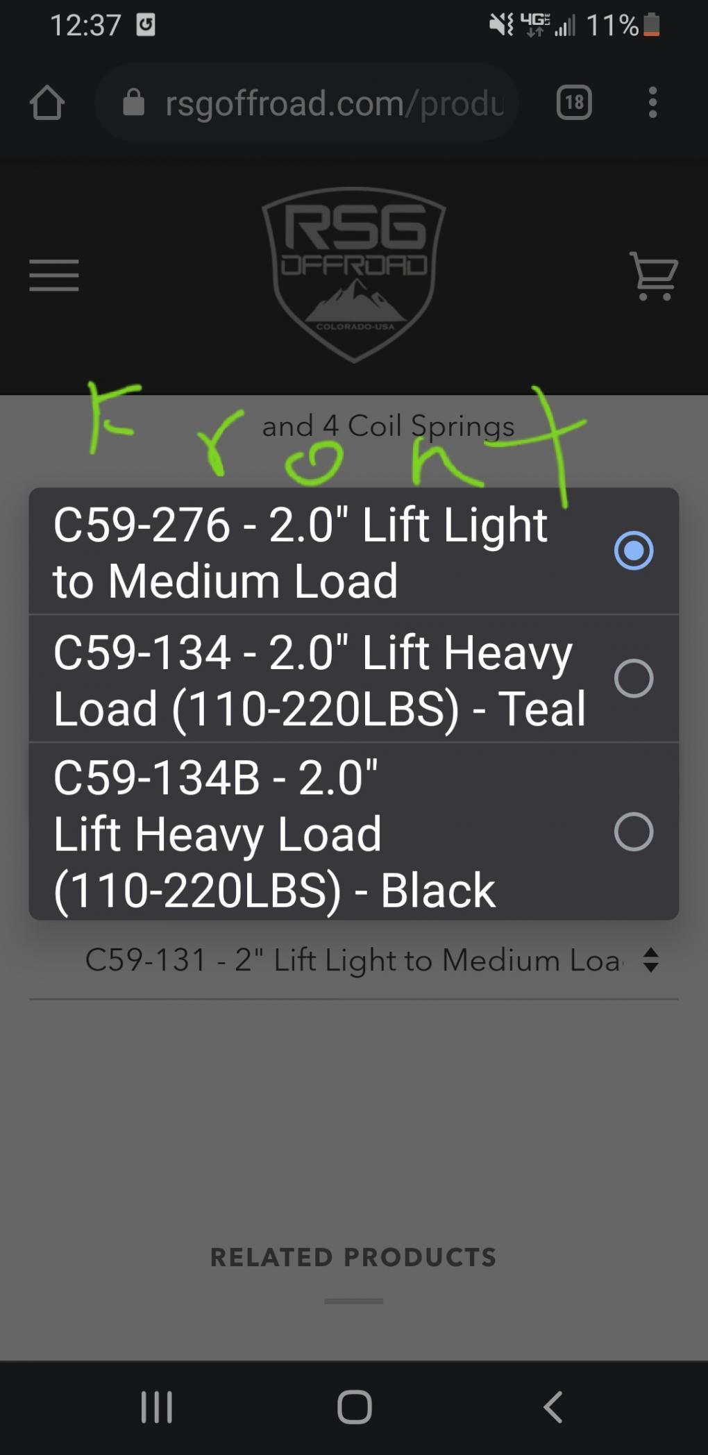 """Dobinsons 2.0"""" Lift kit-20210220_215016-jpg"""