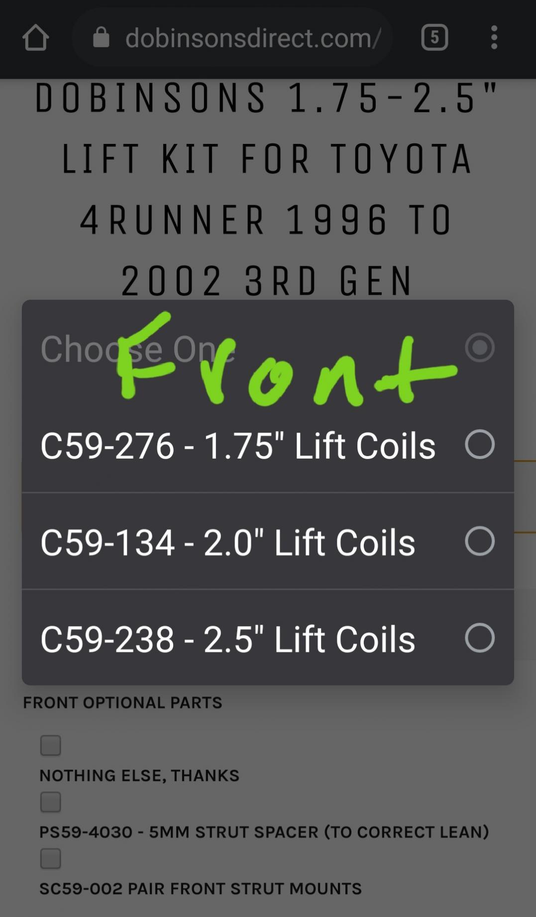 """Dobinsons 2.0"""" Lift kit-20210225_232142-jpg"""