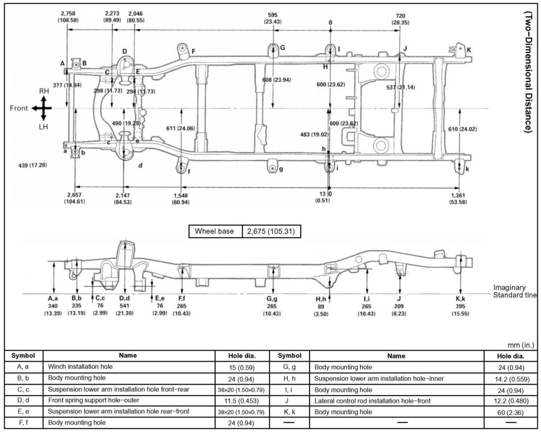 2001 4R    frame    dimensions  Toyota 4Runner Forum  Largest