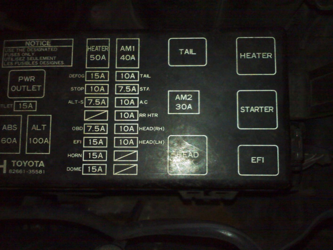 toyota 4runner limited need fuse box diagram for 2001