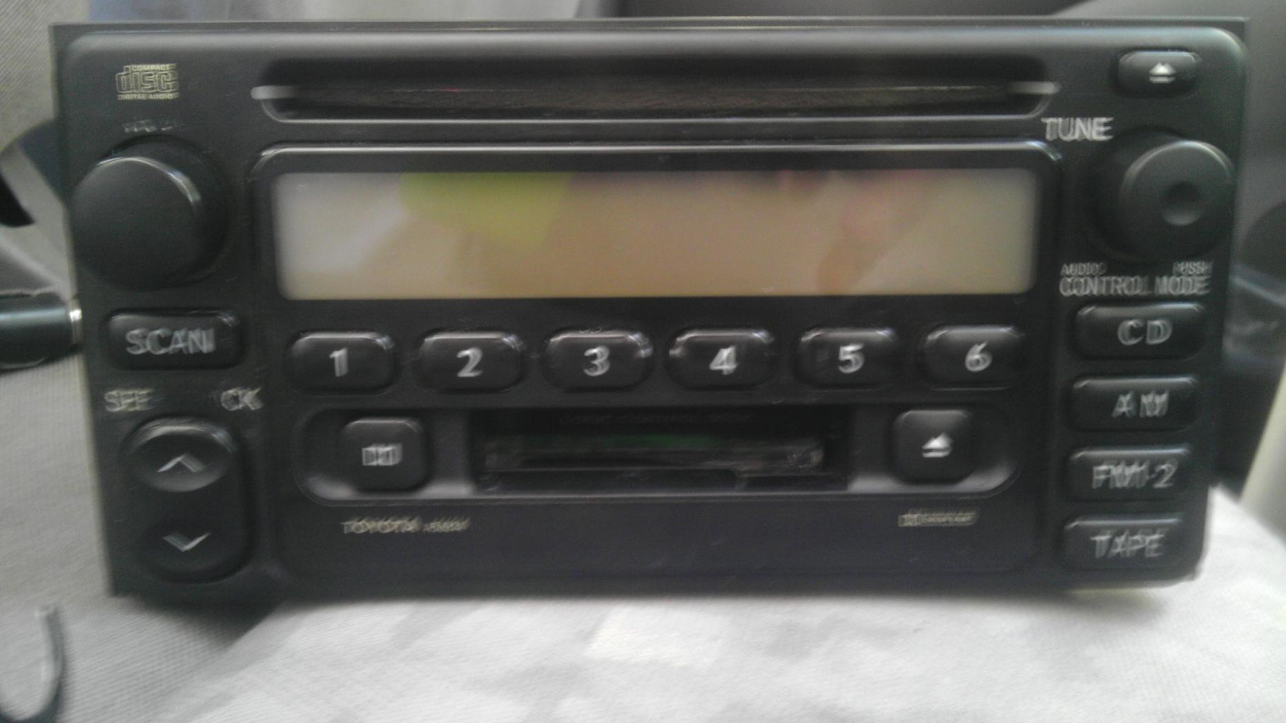 Added an auxiliary input to my factory deck    - Toyota 4Runner