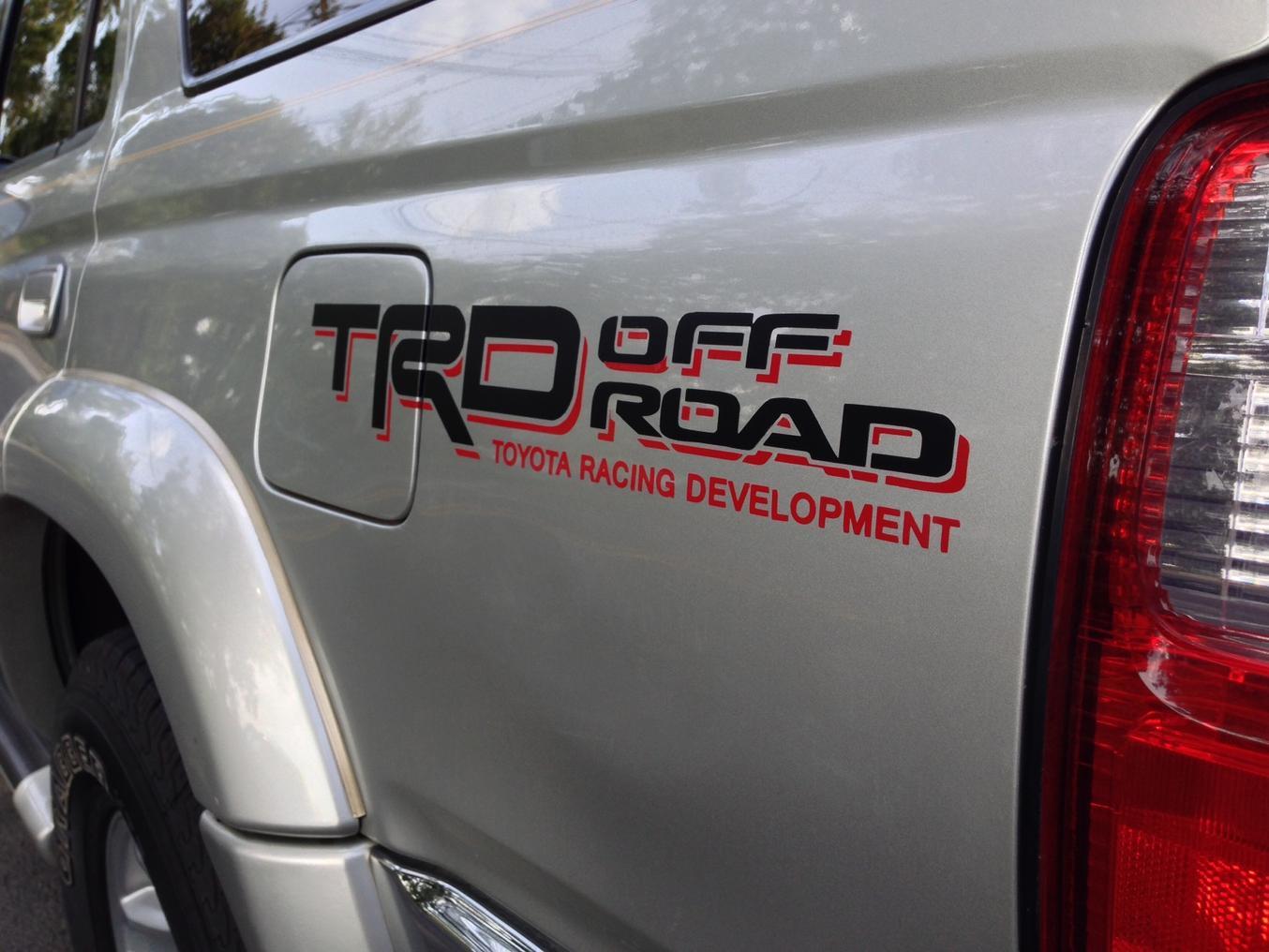 Trd Decal Placement Toyota 4runner Forum Largest 4runner Forum