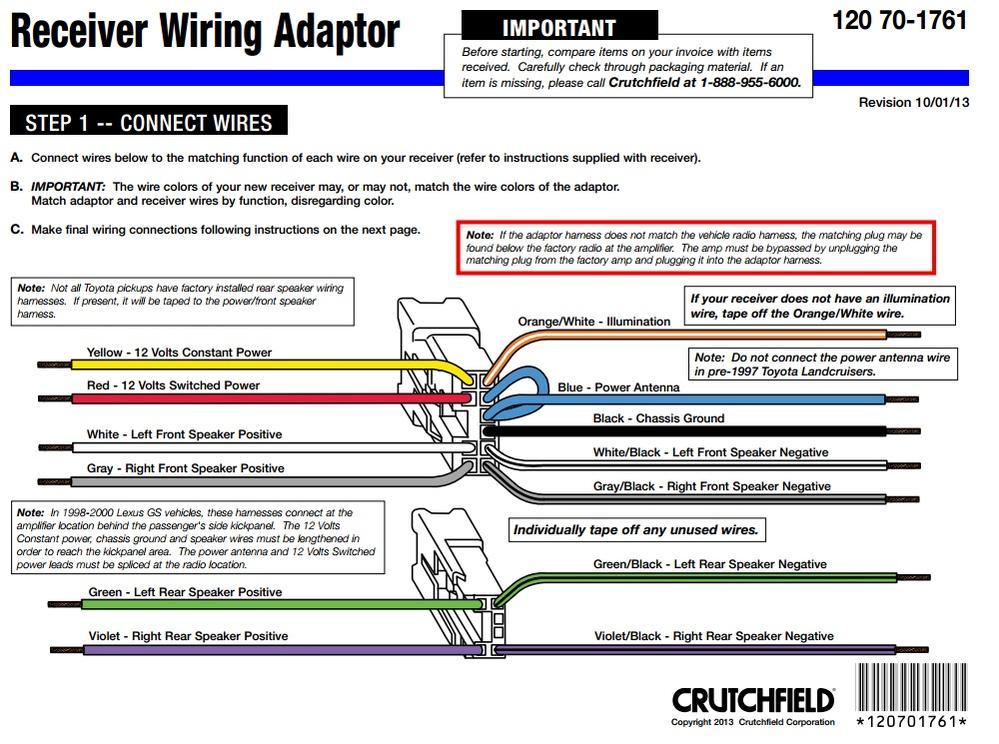 Pioneer Radio Wiring Diagram Colors from im.toyota-4runner.org