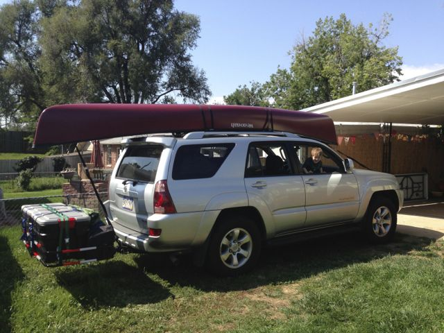 Canoe On Factory Rack Of 06 Sport Toyota 4runner Forum