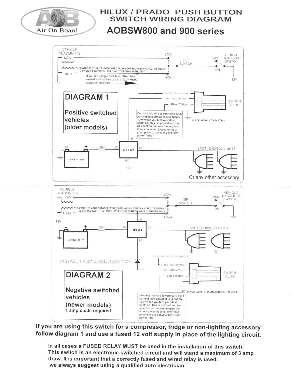 Negative Switching Lights Patrol 4x4 Nissan Forum 12 Volt Compressor Wiring Diagram Report This Image
