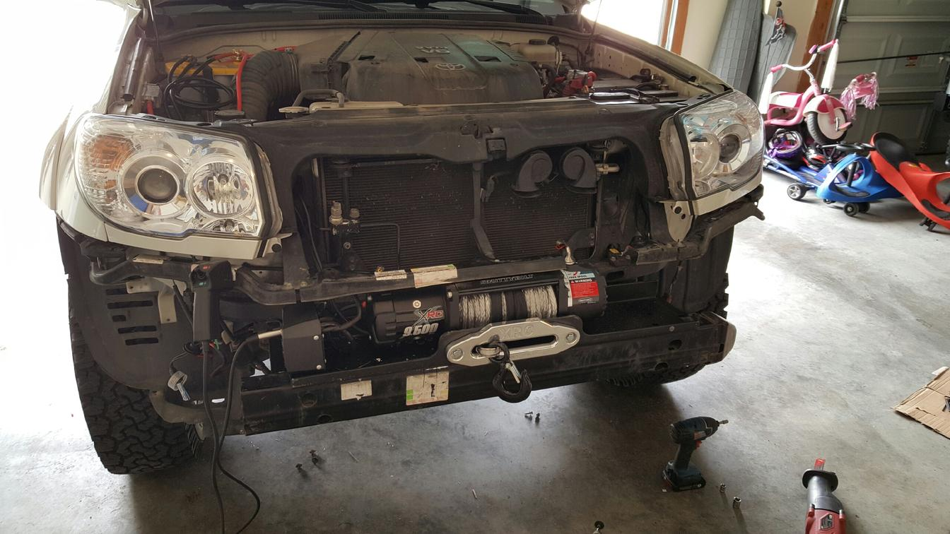 Factory Bumper Winch Install - Toyota 4Runner Forum