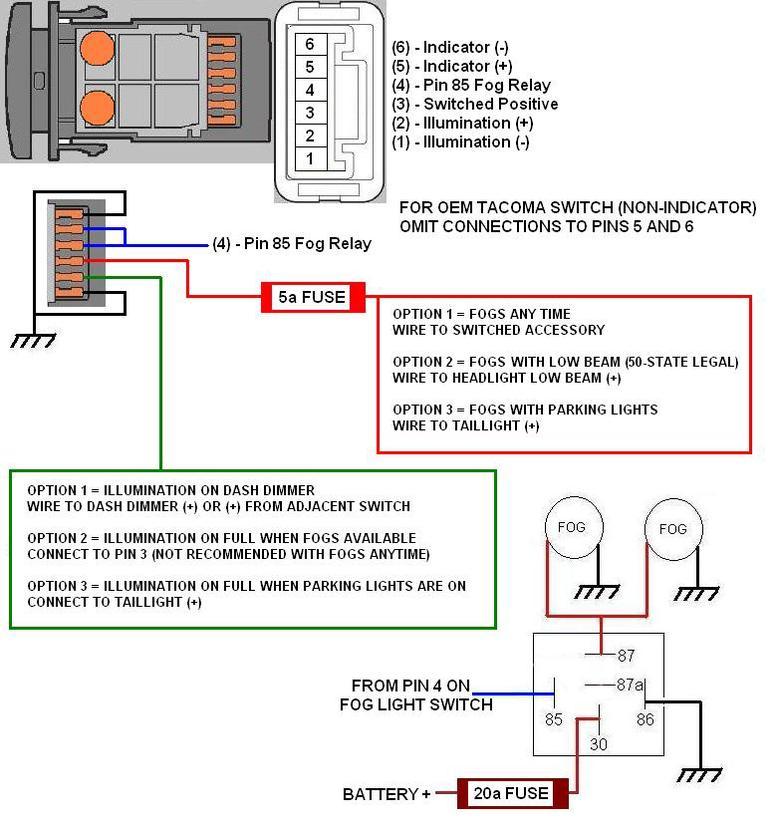 Toyota Tacoma Fog Light Switch Wiring Wire Data