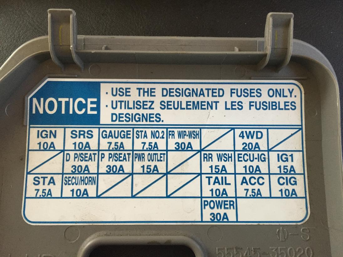 Interior fuse panel ACC keeps blowing - Toyota 4Runner Forum ... on