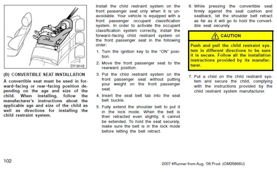 How to disable front passenger airbag for child seat-manual-jpg