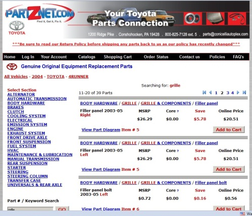 how to find toyota oem part numbers - toyota 4runner forum - largest