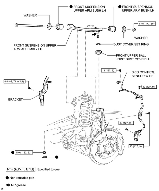 2004 4runner front suspension diagram