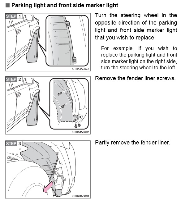 parking lights    front side markers - swap to led  - toyota 4runner forum