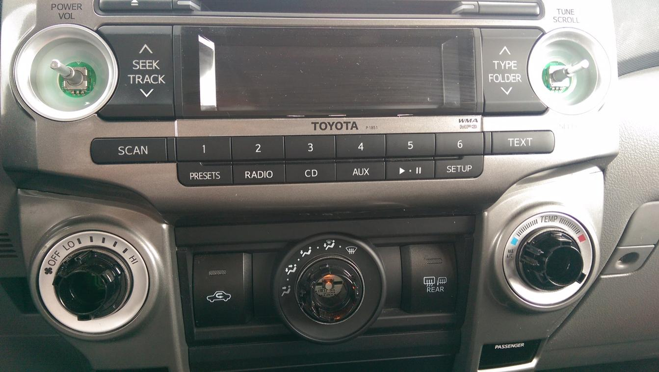 2010 Trail Console Dash Knobs Help Temp  Fan  Direction - Toyota 4runner Forum