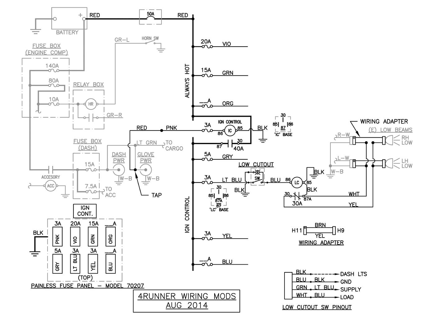 Toyota 4runner Ke Lights Wiring Diagram  Toyota  Auto