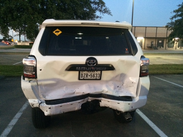 Rear-ended, not sure what to make of the damage - Toyota 4Runner ...
