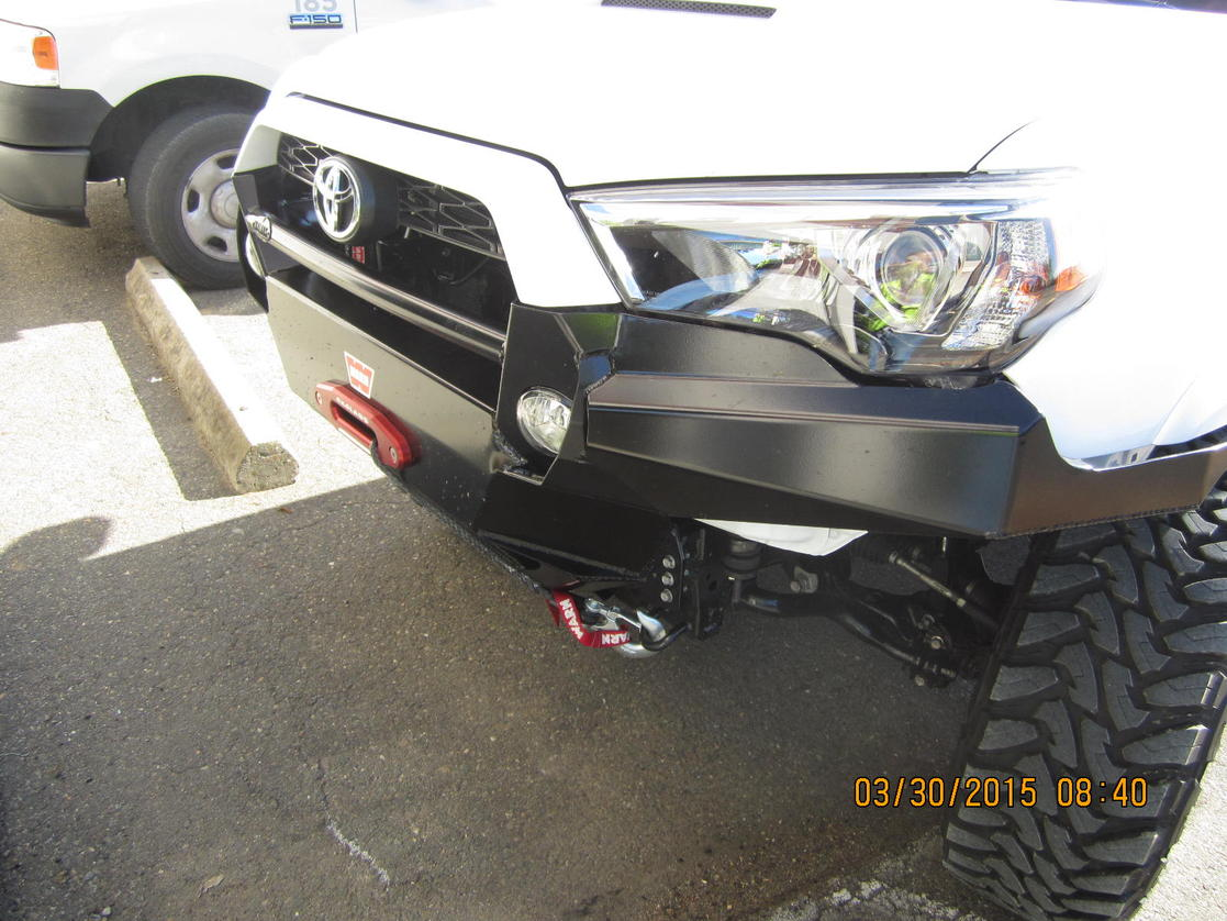 how to put on a front bumper
