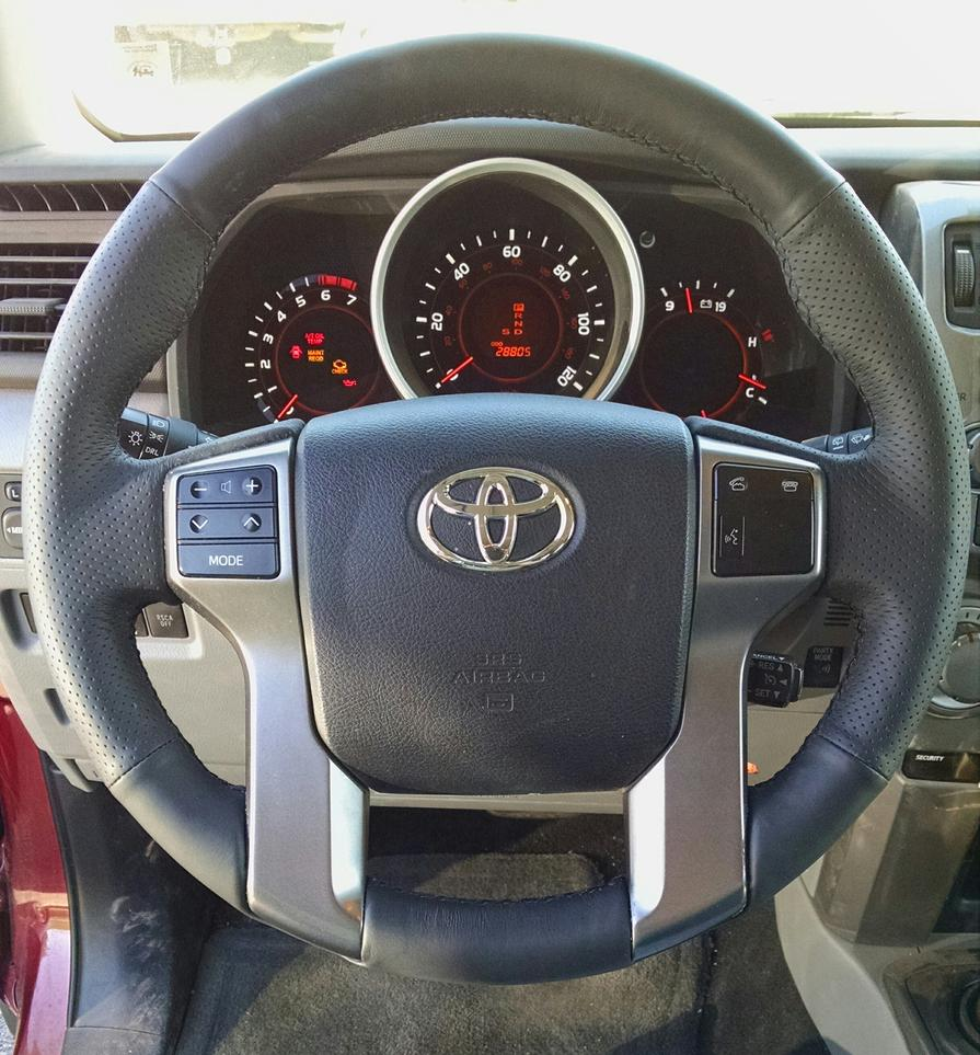 XUJI leather steering wheel cover install. Goodbye plastic steering wheel. OEM?-img_20150429_110024-jpg
