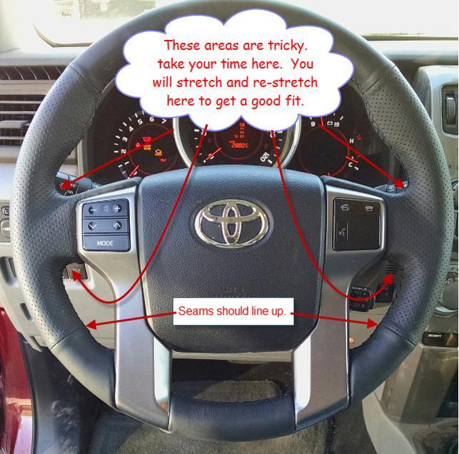XUJI leather steering wheel cover install. Goodbye plastic steering wheel. OEM?-wheel-1-hints-jpg