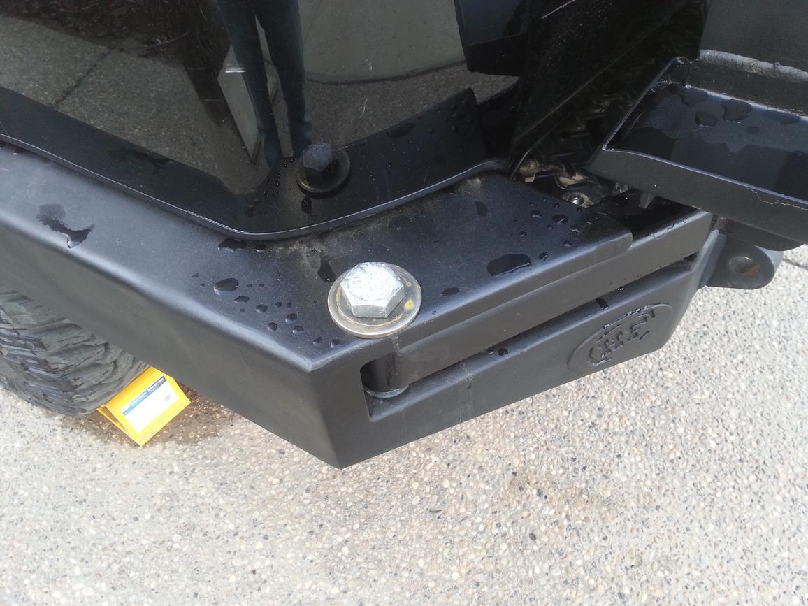 Rusting Hefty Fabworks Dual Swingout Rear Bumper - Toyota