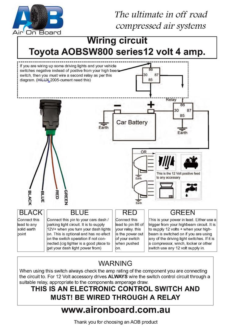 factory (style) fog light switch fits knock out! page 4 Illuminated Switch Wiring 12 volt lighted switch wiring diagram