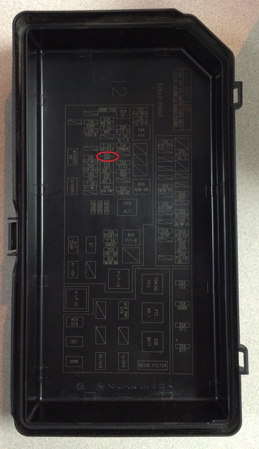 2014 4runner fuse box data wiring diagrams u2022 rh mikeadkinsguitar com  2015 toyota 4runner fuse diagram