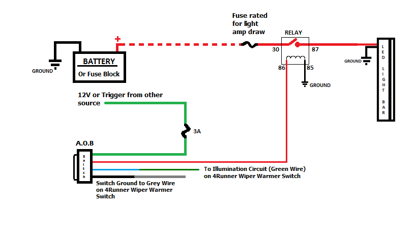 221302 Aob Switch Black Oak Lights Wiring on tractor trailer light wiring diagram