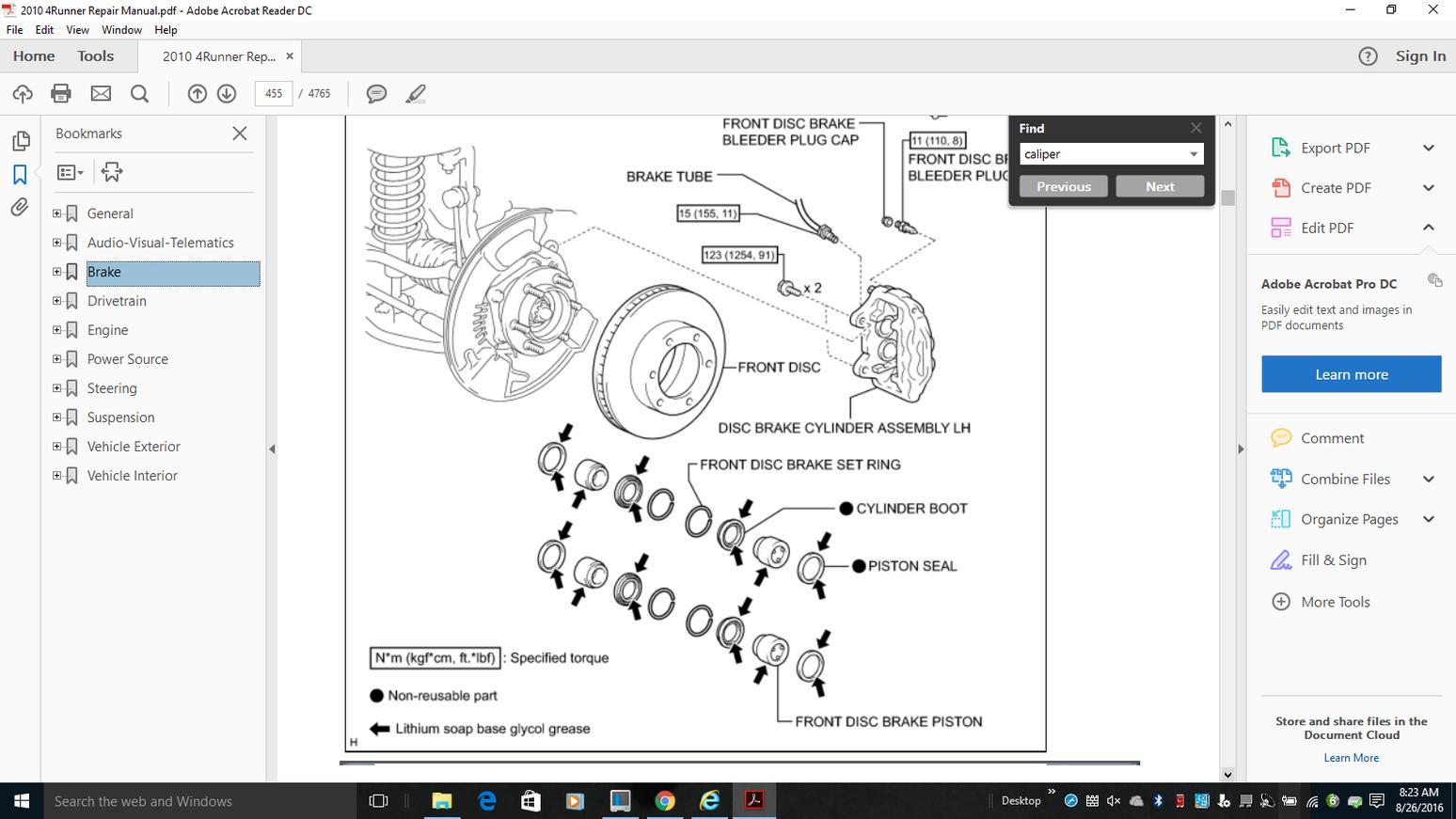 caliper bolt torque - toyota 4runner forum