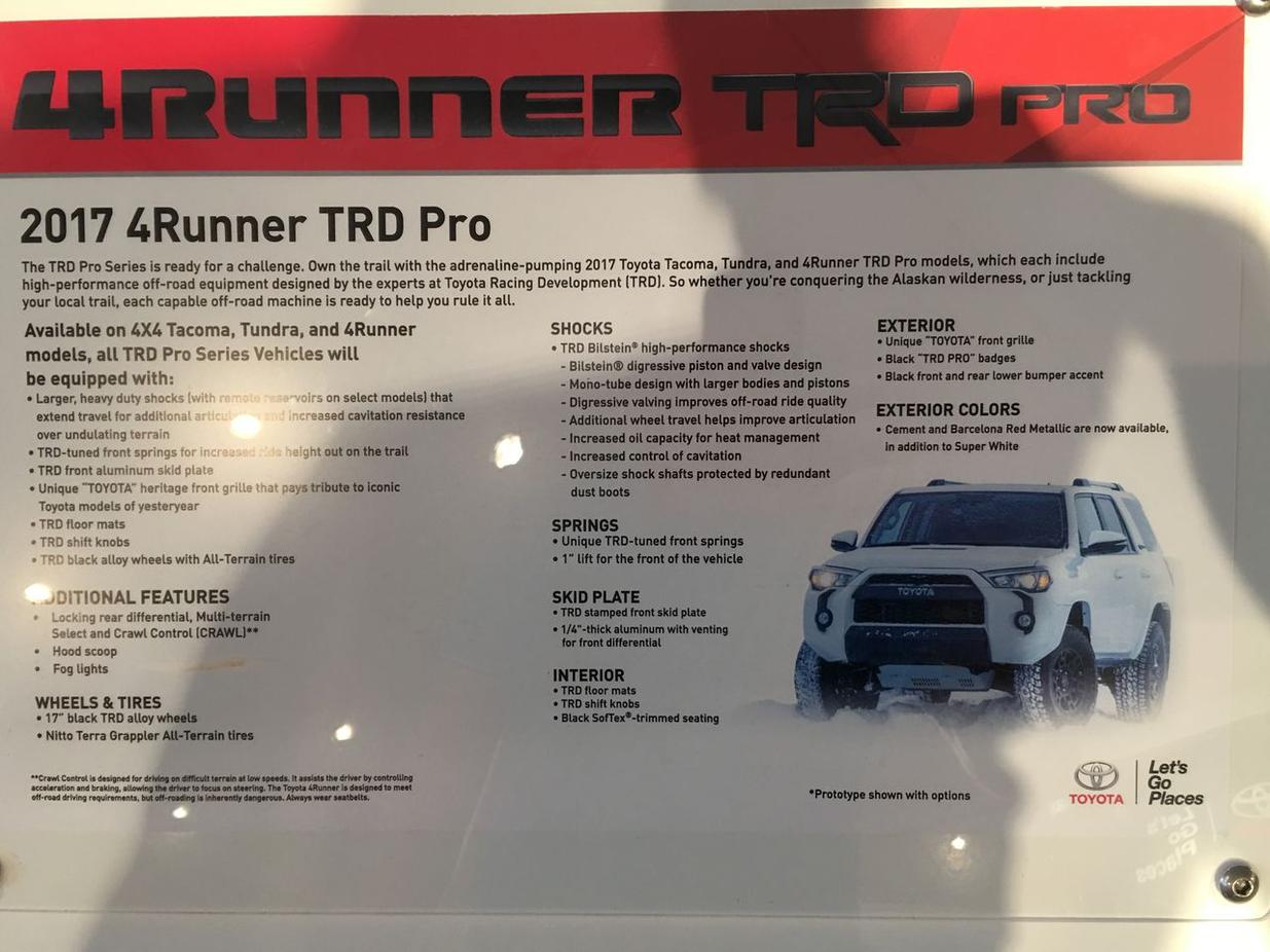 2017 4runner Colors Let S Speculate