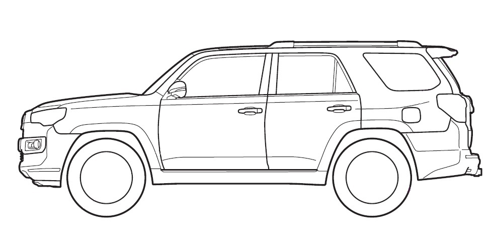 Looking For 4runner Outline Silhouette Toyota 4runner