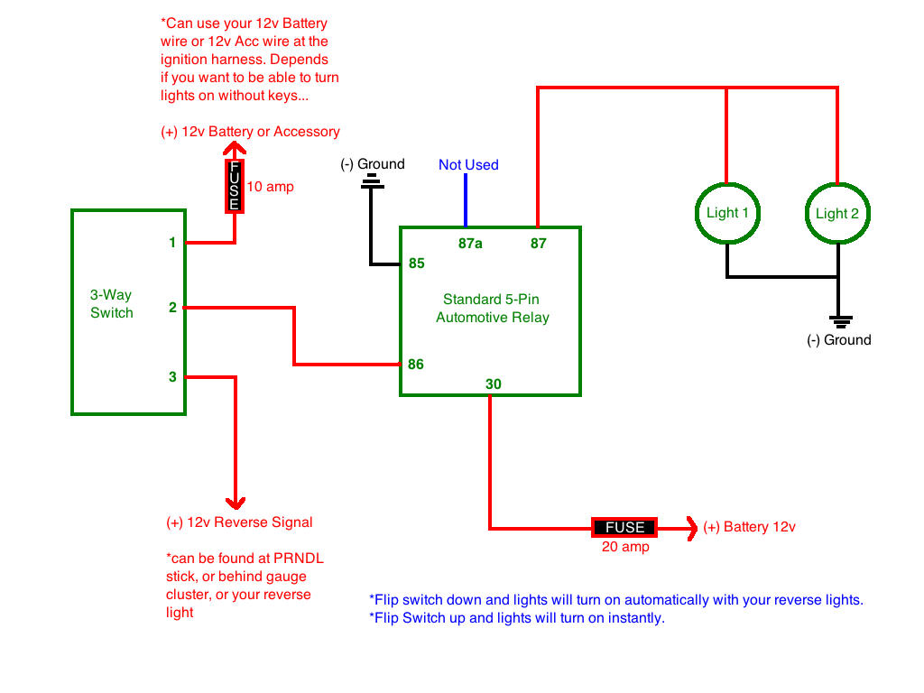 3 Way Switch Wiring With Backup Lights Real Diagram 2 Lighting Help Designing A Circuit For Reverse Toyota 4runner Rh Org 4 Light
