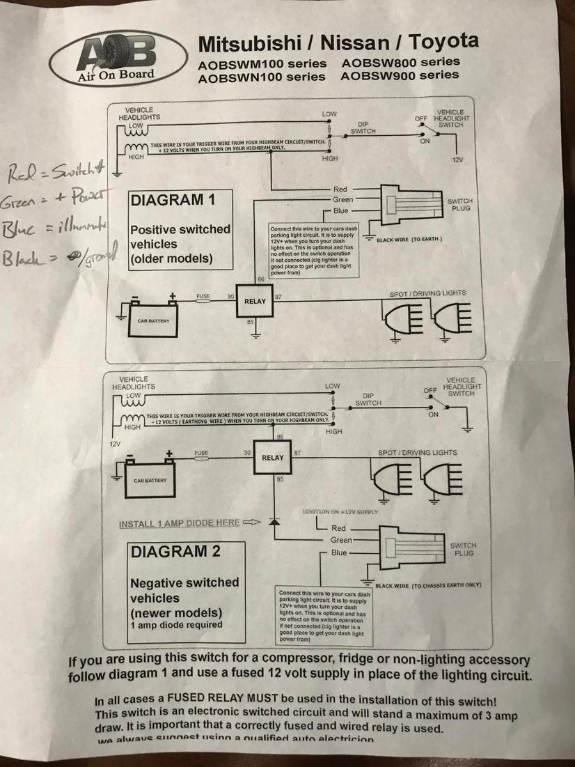arb compressor aob switch install page 2 toyota 4runner forum rh toyota 4runner org arb air compressor switch wiring diagram