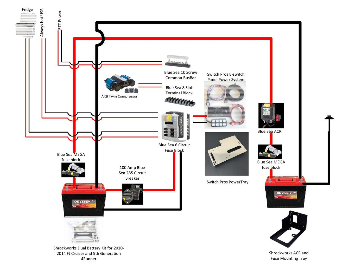 Best dual battery setup for a 5th gen 4runner page 8 toyota alternator wiring diagram best dual battery setup for a 5th gen 4runner t4r dual wiring