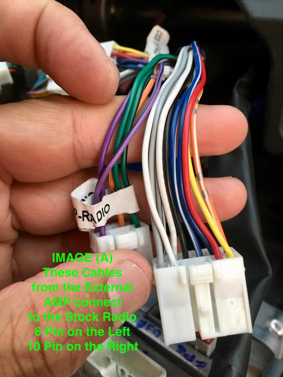 Stock Head Unit Wiring - Stereo Amp question - Toyota ...