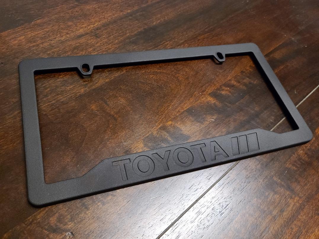 3D-printed Toyota 'Motorsport' License Plate frame-3dtoyota_plate-jpg