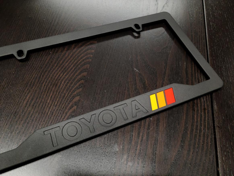 3D-printed Toyota 'Motorsport' License Plate frame-trd_plate_tricolor-jpg